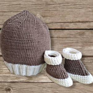 Bonnet beige bébé, création artisanale, O'drey créa