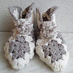 Chaussons adulte au crochet, création artisanale, O'drey créa