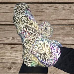 Chaussons multicolore adulte, création artisanale, O'drey créa