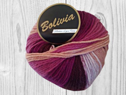 Bolivia pourpre, prunes, saumon, rose, vente de laine, pelote de laine, O'drey créa