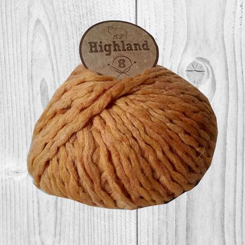 laine Highland 08 Moutarde, vente de laine, pelote de laine, O'drey crea