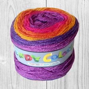 Trendy colors violet, orange, fushia, vente de laine, pelote de laine, O'drey créa