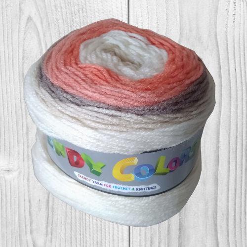Trendy colors blanc, beige, gris, saumon, vente de laine, pelote de laine, O'drey créa
