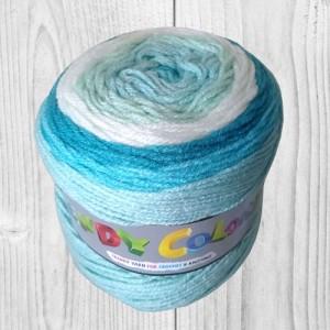trendy colors bleu, blanc, vente de laine, pelote de laine, O'drey créa