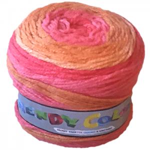 Pelote de laine Trendy color rose, orange